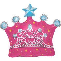 "Amazon.com: Pretty Princess Pink Crown Shaped 25"" Mylar Foil Balloon: Toys & Games"