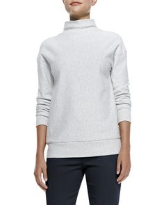 Renika Mock-Neck Knit Sweatshirt at CUSP.