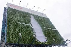 This billboard absorbs air pollutants.  Momentum Philippines, the brand activation and shopper marketing discipline of McCann Worldgroup, gave Manila commuters a breath of fresh air by creating the country's first plant billboard that helps protect the environment. This greening project is for Coca-cola and World Wide Fund for Nature Philippines (WWF).