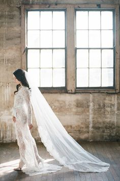 Sophia French Lace Cathedral Length Veil by girlwithseriousdream