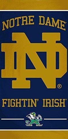 Notre Dame Fightin Irish  BEACH TOWEL NCAA WINCRAFT Dorm Towel 30x60 NEW #WinCraft #NotreDameFightingIrish