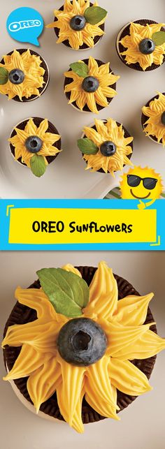 Now here's a sweet treat that comes with a smile! Our quick and easy recipe for OREO Sunflowers is a beautiful way to add summer fun to the classic OREO Cookie. 15 mins prep makes 18 servings, great to share with a crowd of friends and family!