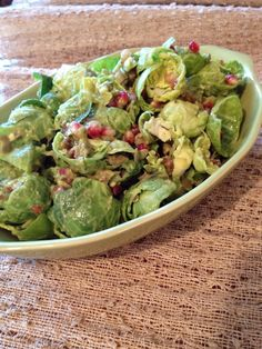 RAW RECIPE: Brussels Sprout Salad with Avocado Dijon Dressing | Raw Food Betsy