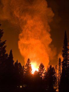 The Springs Fire, Banks-Garden Valley, Idaho, Boise National Forest, August 13, 2012, Kari Greer