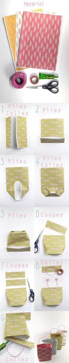 Parce que ça peut toujours servir, je vous explique comment j'ai fait mes petits sacs en papier. C'est archi simple et vous pourrez les décliner dans n'importe quel papier, de n'importe quelle taille  ♥ #epinglercpartager