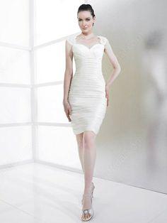 Mini White Ruffles Wedding Dresses