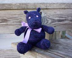 Stuffed Hippo, Knit Hippo, Stuffed Animal, Purple Hippo, Handmade Hippo, Hippo Plush, Hippo Doll, Nursery Toy, Soft Toy, Baby Gift, Kids Toy by Knitneys on Etsy https://www.etsy.com/listing/267166601/stuffed-hippo-knit-hippo-stuffed-animal