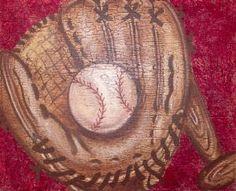 Baseball and Mitt Child's Wall Art $100.00 (USD)