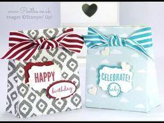 Stampin' Up! Sweet Dreams DSP Gift Bag Tutorial