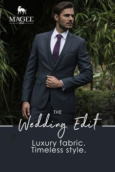 A collection of dapper Spring Summer wedding suits paired with wedding ties and pocket squares. Summer Wedding Suits, Wedding Ties, Our Wedding, Fashion Suits, Mens Fashion, Three Piece Suit, Tie And Pocket Square, Weekend Wear, Luxury Fashion