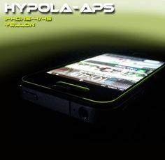 iPhone 5 & 5s Acrylic Neon Screen Protector Sheet Front Side -color-Yellow #hypolaaps