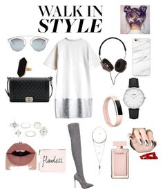 """""""Untitled #5"""" by daliaabbadi on Polyvore featuring Le Silla, Chanel, Christian Dior, Frends, Fitbit, Jaeger, CLUSE, Charlotte Russe, Pull&Bear and Narciso Rodriguez"""