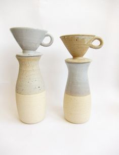 Ceramic Dripper + Carafe    A new MERKELWARE set:    Ceramic Coffee Dripper + Carafe    White stoneware    Elegant and useful for the coffee drinker you know