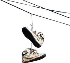 PSD Detail | Shoes on powerline | Official PSDs