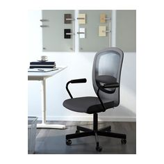 FLINTAN / NOMINELL Swivel chair with armrests - gray - IKEA