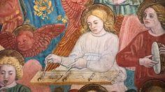 Antoniazzo Romano (Antonio di Benedetto degli Aquili, detto Antoniazzo Romano), (1430-1435 circa- 1508), La morte di Santa Francesca Romana, dettaglio, 1468, Roma, Monastero di Tor de' Specchi