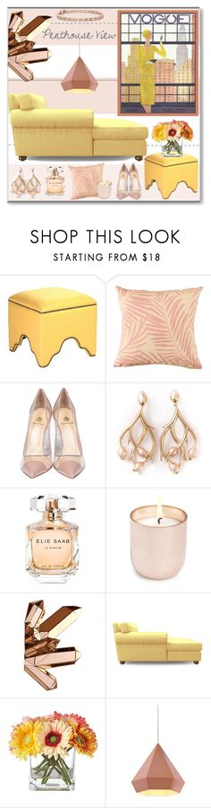 """""""Penthouse View"""" by stephlo-1 on Polyvore featuring interior, interiors, interior design, home, home decor, interior decorating, Semilla, Shaun Leane, Elie Saab and Jonathan Adler"""