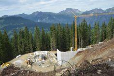 Hier entsteht die Talstation der neuen Panorama Bahn #silvrettamontafon #panoramabahn Bahn, Skiing, Wellness, Mountains, Nature, Travel, Ski, Naturaleza, Viajes