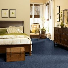 how to decorate a bedroom with blue carpet - Google Search | For the ...