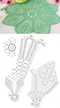 Delicate Lace Crochet Napkins... ♥ Deniz ♥ Crochet Doily Patterns, Thread Crochet, Filet Crochet, Crochet Doilies, Crochet Lace, Household Items, Stitches, Delicate, My Favorite Things