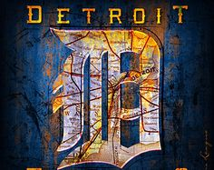 Detroit Tigers City Map - Perfect  Christmas gift ...