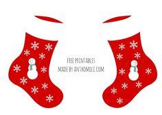 Εκτυπώσιμες χάρτινες χριστουγεννιάτικες κάλτσες για τα κάλαντα - Anthomeli