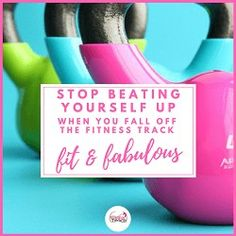 STOP beating yourself up when you fall off the fitness track - it is counter-productive. Health Goals, Health And Wellness, Health Fitness, Health Matters, Women's Health, Health Tips, Self Appreciation, Pregnancy Hormones, Track Workout