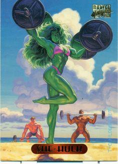 She-Hulk by Greg & Tim Hildebrandt