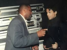 Tavis Smiley and Prince, chatting backstage at a show in in Las Vegas.  Photo courtesy of Tavis Smiley