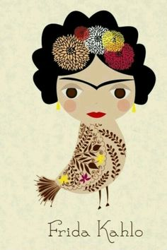 Frida bird - unknown artist