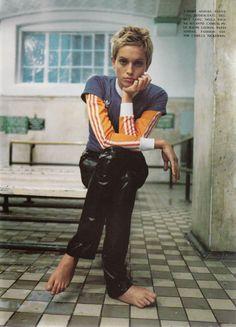 VOGUE ITALIA JANUARY 1994 'GINNICO' photographer: Steven Meisel models: Beri Smither, Nadja Auermann, Debbie Deitering
