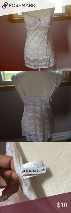 White lace lingerie dress White lace lingerie 32 b used but in good condition. No holes. Off white color Rampage Intimates & Sleepwear Chemises & Slips
