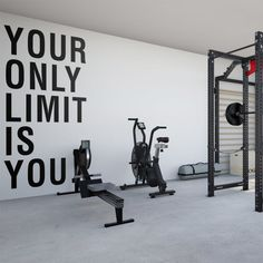 Your Only Limit Is You, Gym Wall Decor, Gym Wall Decal, Gym Wall Sticker, Gym Wall Art, Gym, Gym Quotes, Inspiring Quotes, Motivation Quotes Letter Wall Decor, Wall Decal Sticker, Wall Stickers Gym, Gym Decor, Gym Room, Gym Quote, Garage Gym, At Home Gym, New Wall