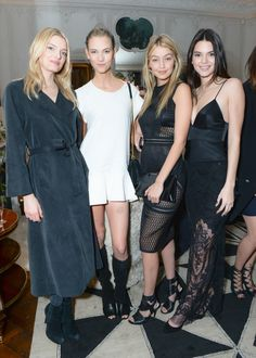 Lily Donaldson, Karlie Kloss, Gigi Hadid & Kendall Jenner - CFDA/Vogue Fashion Fund Americans Cocktail, March 6, 2015.