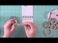 Designer Jen Gallacher shares some quick tips and tricks for using Washi Tape. Visit http://jengallacher.blogspot.com/2013/02/jens-jumpstart-tutorial-video-washi-tape.html for additional product suggestions.