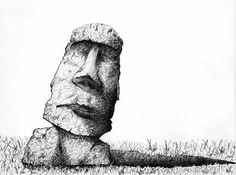 Easter Island illustration image by ryanmconway