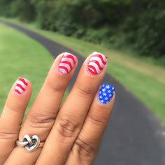 Stars, Stripes, and our Heart Knot Ring are perfect for this #manimonday and Fourth of July! {Photo by: @ycm497} #JamesAvery #myjamesavery