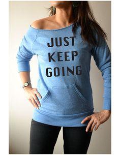 Fleece Sweatshirt. Off Shoulder Shirt. Just Keep by GirlThreads