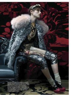 Anarchistic Nobility Captures - The Elle Canada October 2012 Editorial Royal Rebel has a Dark Side (GALLERY)
