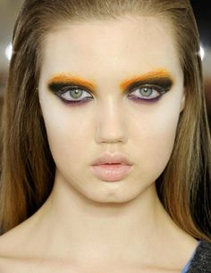 ELLE shows you how to try autumn's sunset shades catwalk make-up trend | ELLE UK