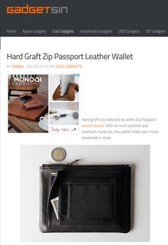 Hard graft has released its latest Zip Passport leather wallet. With its multi pockets and premium materials, the wallet holds your travel essentials in style.