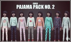 Sims 4 CC's - The Best: Pajama Pack for Kids by KiaraRawks