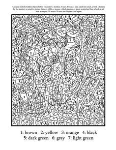 difficult color by number printables funnycoloring com crafts