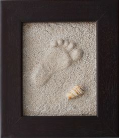 how to make foot prints in the sand and keep it. this is too awesome!! craft-ideas