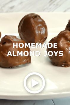 These Homemade Almond Joy are a family favorite! They are so delicious and easy to make! My husband likes these better than the actual candy bar. - Candy - Ideas of Candy Easy Candy Recipes, Chocolate Candy Recipes, Caramel Recipes, Fudge Recipes, Cookie Recipes, Chocolate Coating Recipe, Köstliche Desserts, Holiday Baking, Christmas Desserts
