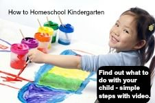 Homeschool Kindergarten Curriculum - simple steps to use with video provided.