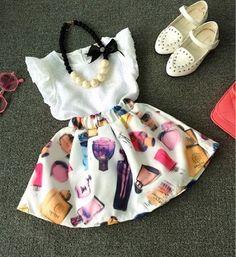 Отличный нарядик для маленьких красавиц(блузочка+юбочка)😻😻😻 Размеры: 1-6…
