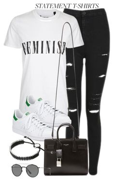 """Untitled #12211"" by vany-alvarado ❤ liked on Polyvore featuring Topshop, Tee and Cake, adidas, Yves Saint Laurent, Ray-Ban and Links of London"