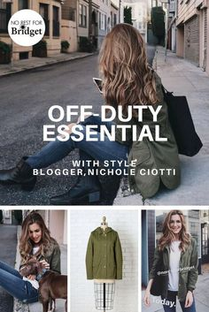 Style Blogger, Nichole Ciotti looking effortlessly-chic in our Olive Hooded Cargo Jacket. Shop this look and more on www.norestforbridget,com. #styleblogger