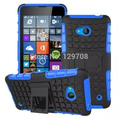 Heavy Duty Strong Armor Tire Style Hybrid TPU PC Hard Stand Bracket Protective Skin Case For Microsoft Lumia 640 Robot | Price: US $2.42 | http://www.bestali.com/goto/32331811424/10